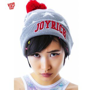 NWT Joyrich All Star Beanie - Gray/Red